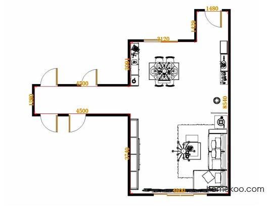 平面布置图贝斯特系列客餐厅G13400