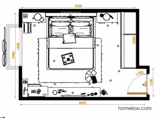 平面布置图柏俪兹系列卧房A13379