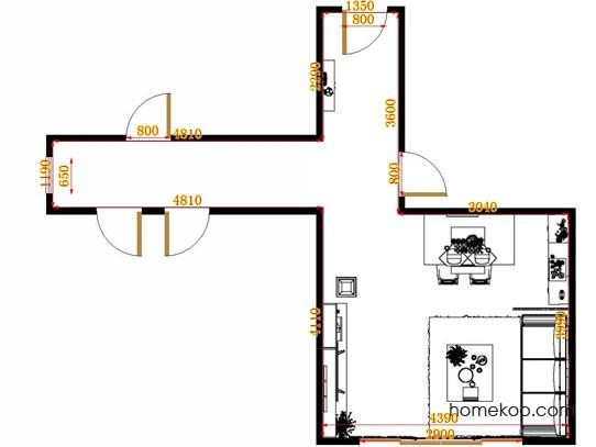 平面布置图斯玛特系列客餐厅G13441