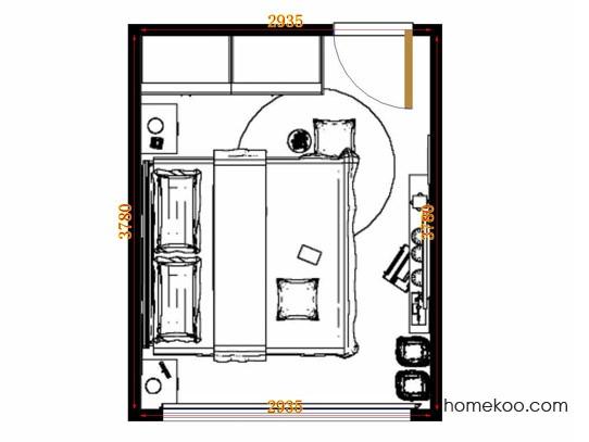 平面布置图贝斯特系列卧房A13414