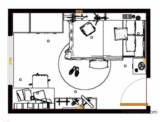 平面布置图斯玛特系列青少年房B11570