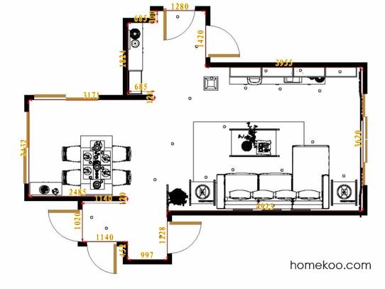 平面布置图斯玛特系列客餐厅G13514