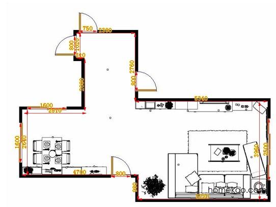 平面布置图乐维斯系列客餐厅G13522