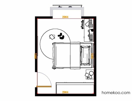 平面布置图斯玛特系列青少年房B11591