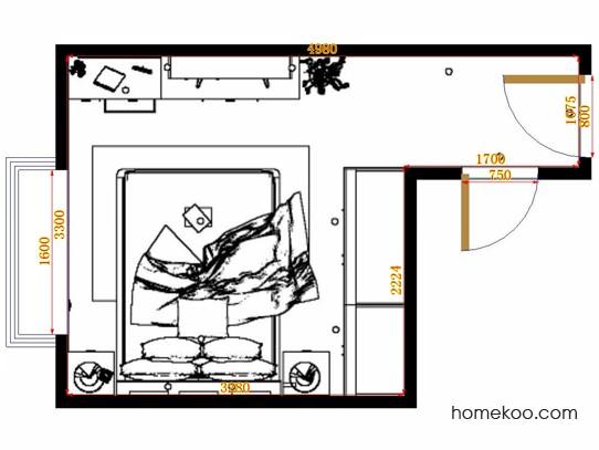 平面布置图斯玛特系列卧房A13472
