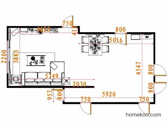 平面布置图斯玛特系列客餐厅G13603