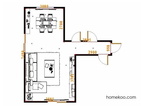 平面布置图斯玛特系列客餐厅G13651