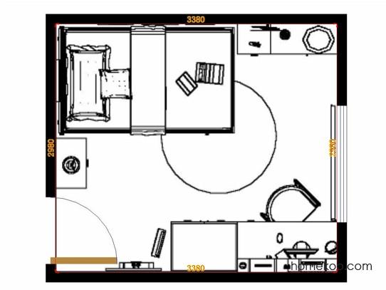 平面布置图德丽卡系列青少年房B11641
