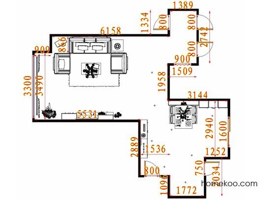 平面布置图乐维斯系列客餐厅G13689