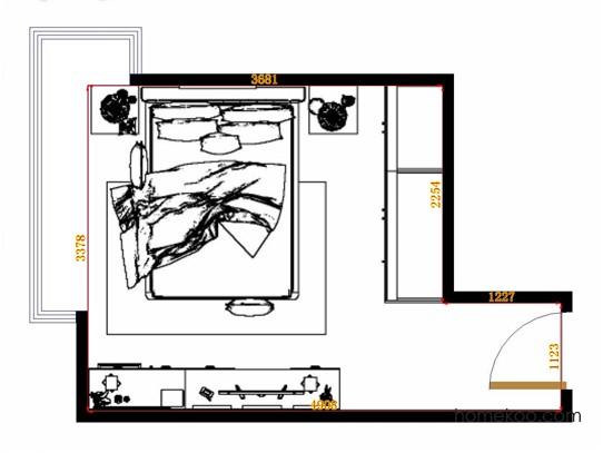 平面布置图贝斯特系列卧房A13547