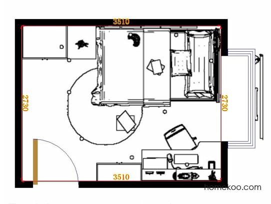 平面布置图乐维斯系列青少年房B11671