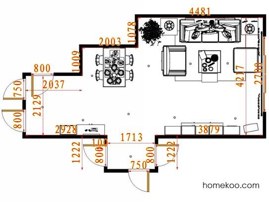 平面布置图贝斯特系列客餐厅G13732