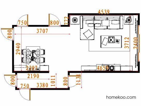 平面布置图斯玛特系列客餐厅G13744