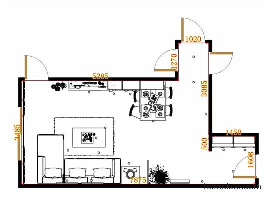 平面布置图贝斯特系列客餐厅G13757