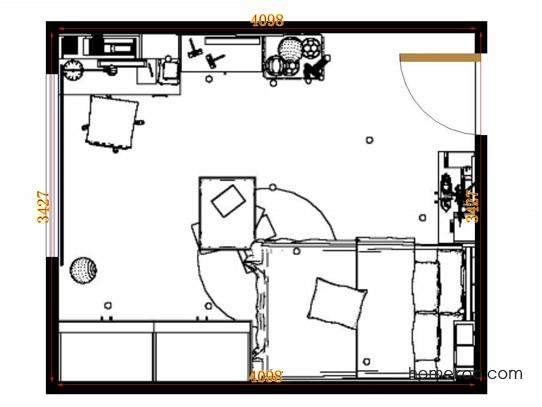 平面布置图斯玛特系列青少年房B11675