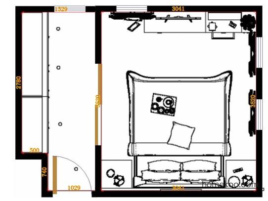 平面布置图贝斯特系列卧房A13577