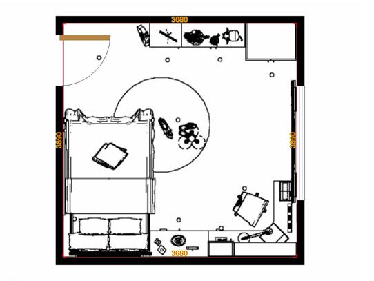 平面布置图贝斯特系列青少年房B11706