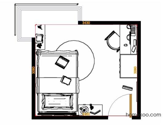 平面布置图贝斯特系列青少年房B11709