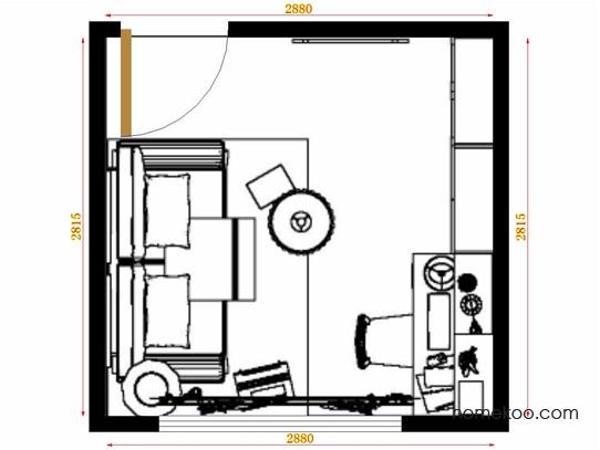 平面布置图斯玛特系列书房C11171