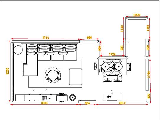 平面布置图柏俪兹系列客餐厅G13936
