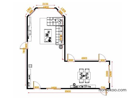 平面布置图乐维斯系列客餐厅G13940