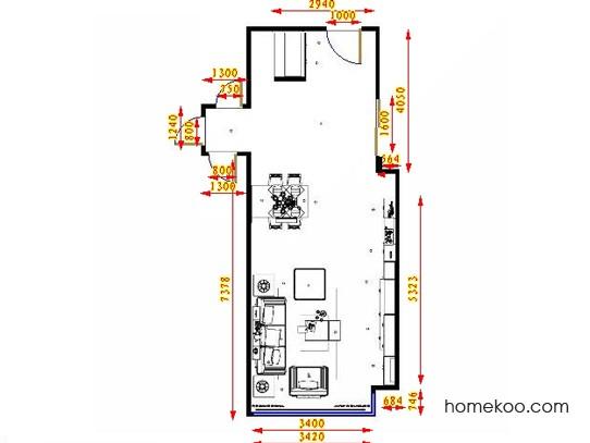 平面布置图贝斯特系列客餐厅G13959