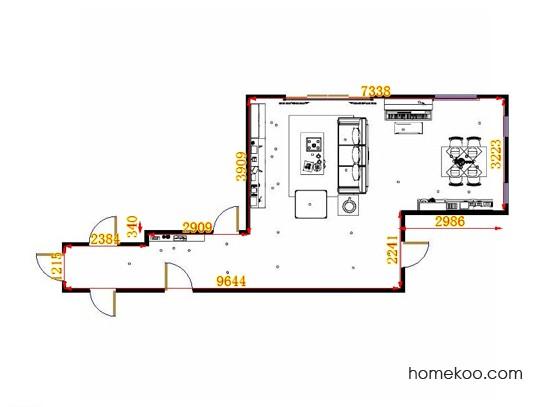 平面布置图贝斯特系列客餐厅G13967