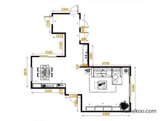 平面布置图贝斯特系列客餐厅G13970