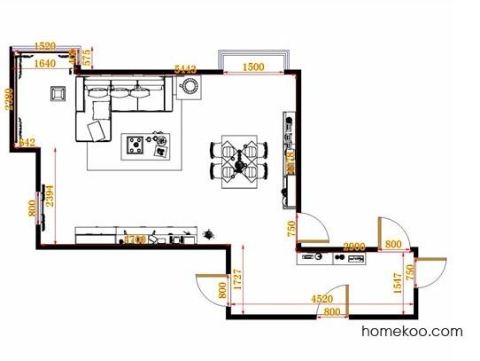 平面布置图斯玛特系列客餐厅G13972