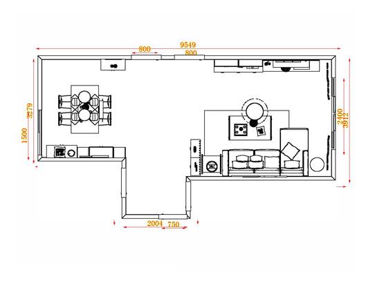 平面布置图格瑞丝系列客餐厅G13975