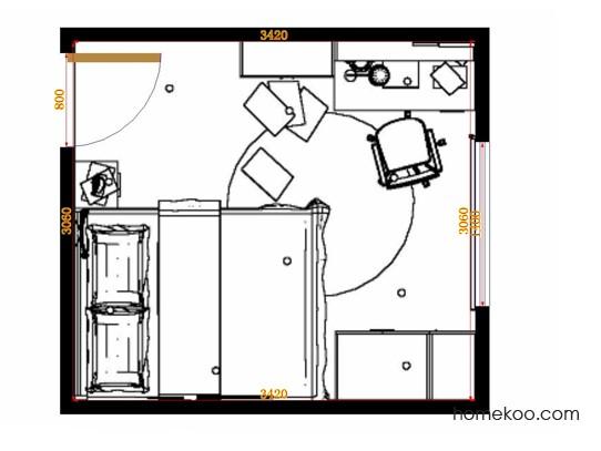 平面布置图乐维斯系列青少年房B11765
