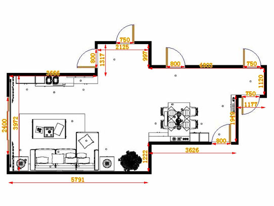 平面布置图乐维斯系列客餐厅G13976