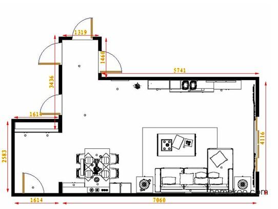 平面布置图斯玛特系列客餐厅G13979