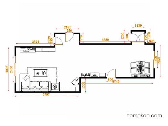 平面布置图斯玛特系列客餐厅G13985
