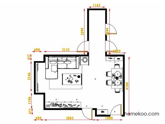 平面布置图德丽卡系列客餐厅G13984