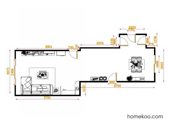 平面布置图德丽卡系列客餐厅G13988