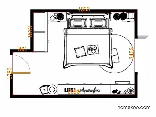 平面布置图斯玛特系列卧房A13776