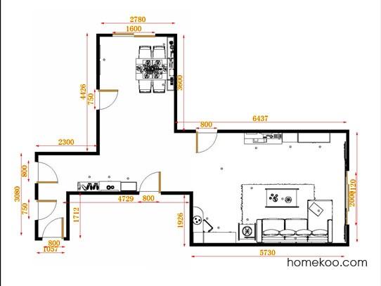 平面布置图斯玛特系列客餐厅G13999