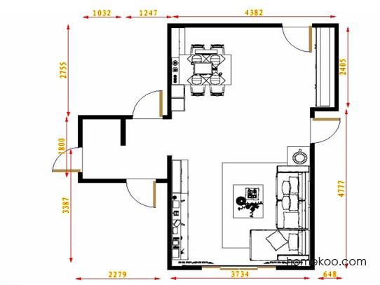 平面布置图德丽卡系列客餐厅G14000