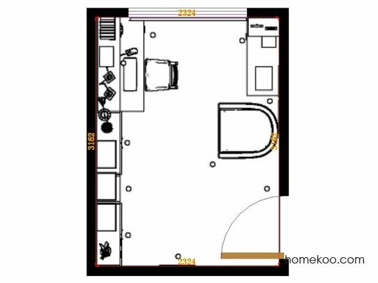 平面布置图贝斯特系列书房C11350