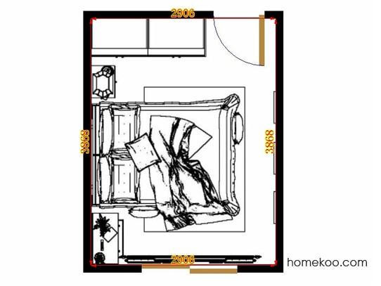 平面布置图乐维斯系列卧房A13841