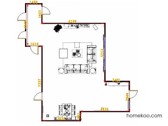 平面布置图乐维斯系列客餐厅G14023