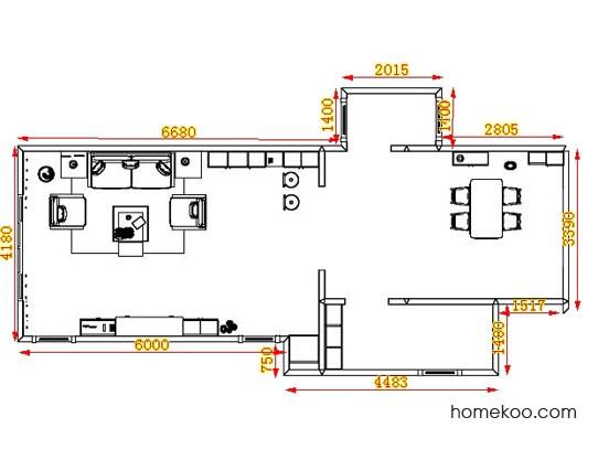 平面布置图柏俪兹系列客餐厅G14025