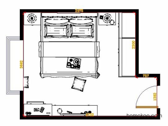 平面布置图柏俪兹系列卧房A13847
