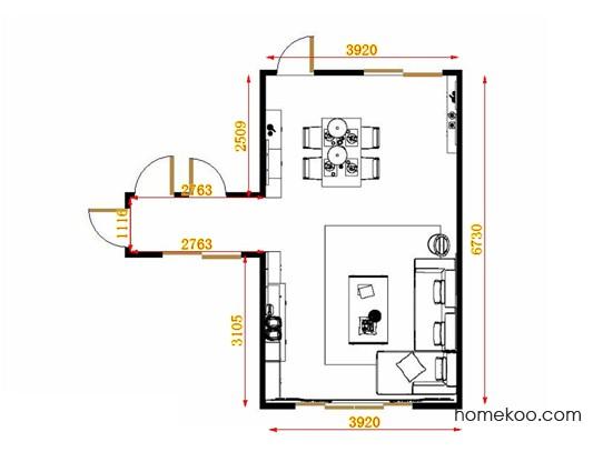平面布置图德丽卡系列客餐厅G14038