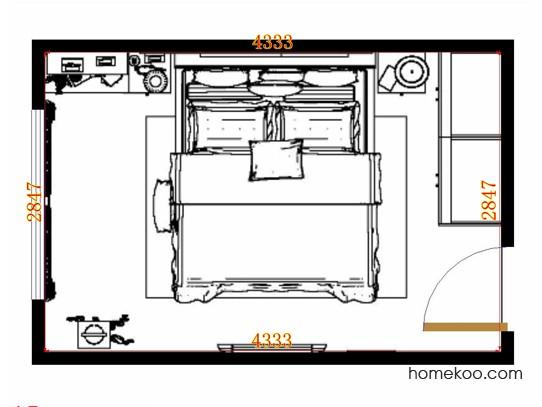 平面布置图斯玛特系列卧房A13874