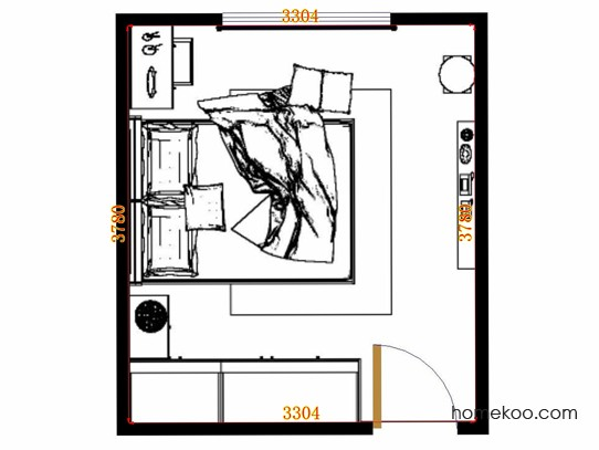 平面布置图格瑞丝系列卧房A13878