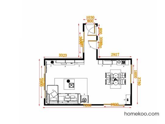 平面布置图斯玛特系列客餐厅G14045