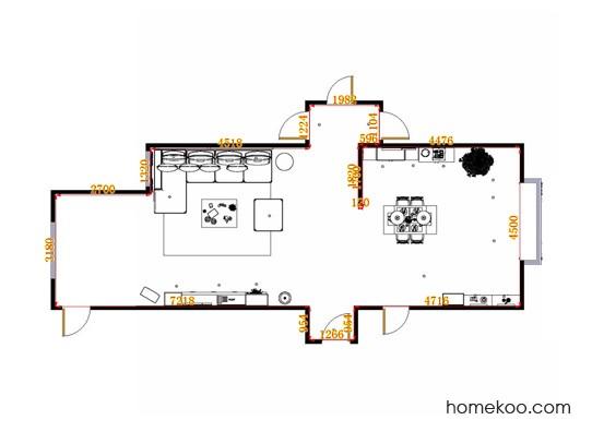 平面布置图德丽卡系列客餐厅G14048