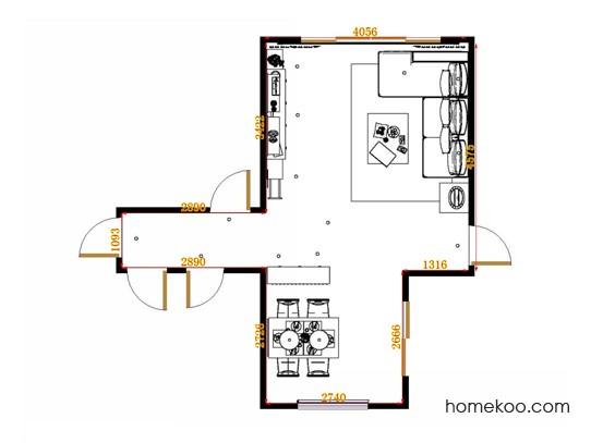 平面布置图德丽卡系列客餐厅G14049